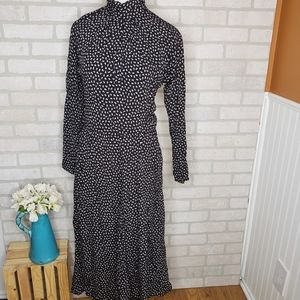 Vintage Michelle Stuart Black Floral Dress